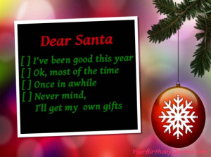 Holiday, Christmas, quotes, funny, santa, list
