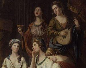 ... Elizabeth Montagu (née Robinson, seated), Elizabeth Griffith (seated