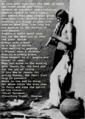 Chief Tecumseh (Crouching Tiger), Shawnee
