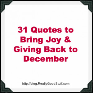 31 Quotes to Bring the Spirit of Giving and Joy to December
