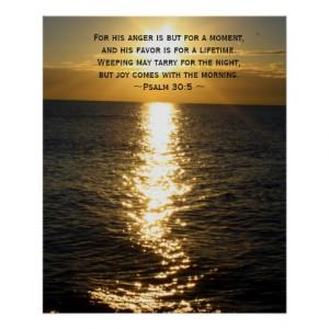Joy Bible Verse Christian Sunrise quote Poster