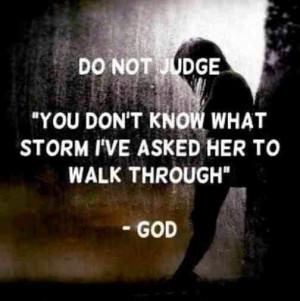 Never pass judgement