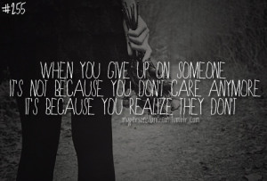 quotes about someone not caring anymore - Google Search