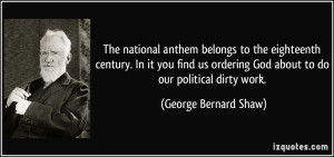 The national anthem belongs to the eighteenth century. In it you find ...