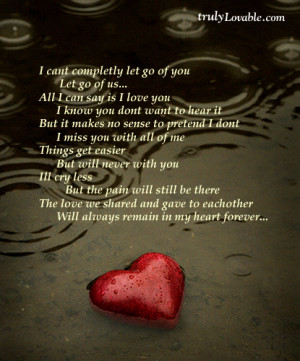can t completely let go of you let go of us all i can say is i love ...
