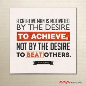 Desire to achieve.