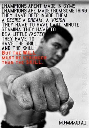 Muhammad Ali quote on champions
