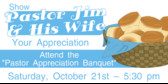 pastor appreciation banquet pastor appreciation banquet banner sign
