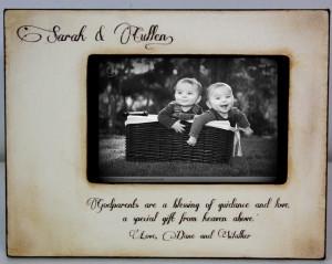Frames 4X6, Godparent Gifts, Gifts Idea, Vintage Godparent, Godparent ...
