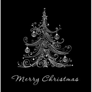 black_and_white_christmas_tree_shower_curtain.jpg?color=White&height ...