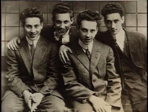 Harpo, Groucho, Chico & Gummo Marx 1915 | Back in Time | Pinterest