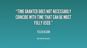 Time granted does not necessarily coincide with time that can be most ...