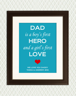 Personalized CHRISTMAS or Father's Day - Gift for Dad - Quote about ...