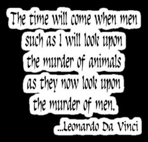 Vegetarian Quote Leonardo Da Vinci by T-ShirtsGifts