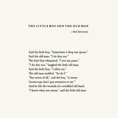 the little boy and the old man - This was my absolute favorite of all ...