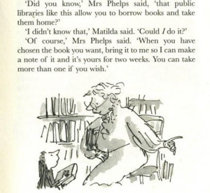... matilda two of our favorite things library quote matilda roald dahl