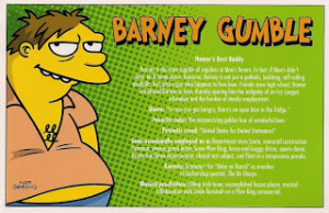 barney gumble a character from the simpsons barney is homer s best ...