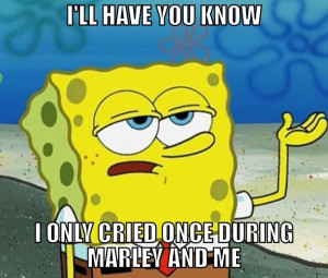 Spongebob is one macho man.