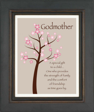 ... Custom Print Wall Art -Gift for Godparents - Other colors available