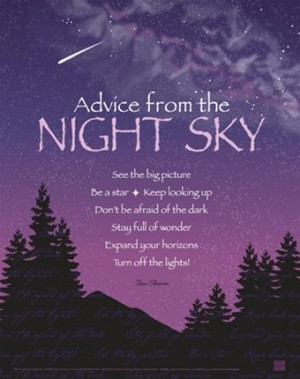 Advice from the Night Sky Poster