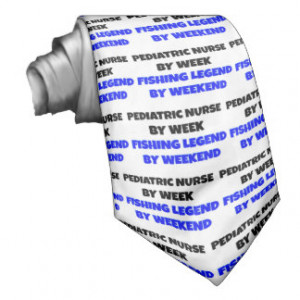 Fishing Legend Pediatric Nurse Custom Tie