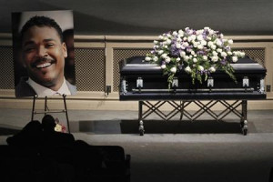 Rodney King's casket is pictured during his memorial service at the ...