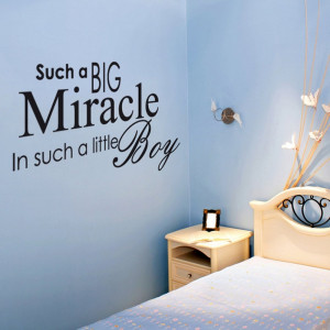 Home › Quotes › Miracle Baby Boy Wall Sticker Quote