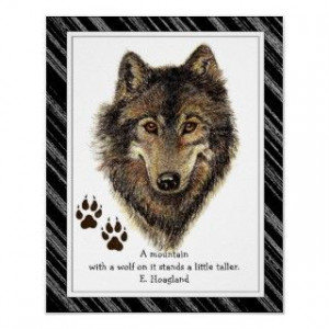 Wolves, Watercolor Wolf & Pack Quote, Nature Poster