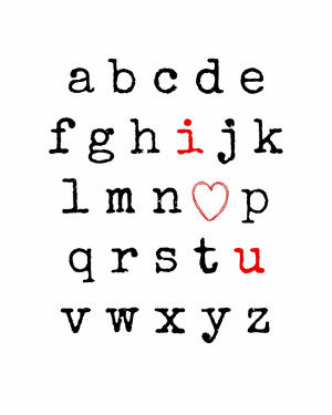 Love You Alphabet Free Printable from Endlessly Inspired