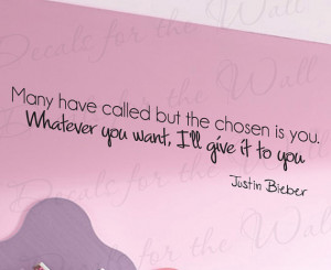 Justin Bieber One Time Girl Room Kids Lyrics Song Wall Decal Quote ...