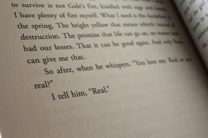 book, couple, cute, hunger games, i cried reading this, katniss, love ...