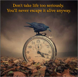 Bird and clock - thoughtful quotes about life