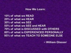 How We Learn by William Glasser educ