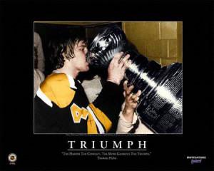 Bobby Orr Boston Bruins - Triumph - Framed 16x20 Motivational Plaque