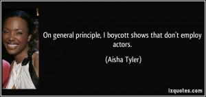 On general principle, I boycott shows that don't employ actors ...
