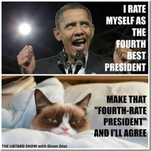 Grumpy Cat Speaks Out On Obama
