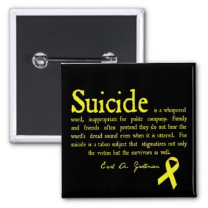 Suicide Prevention Flair with Grollman quote Pinback Buttons