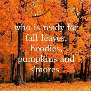 Who is ready for fall leaves,