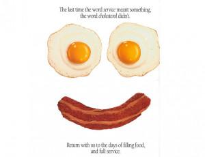 Cartoon Vector Illustration Bacon And Eggs
