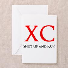 Unique Cross country running quotes Greeting Card