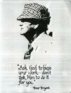 Coach Bear Bryant More