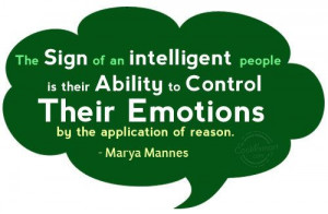 ... to control emotions by the application of reason.