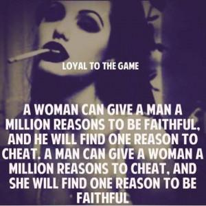 Men are cheating bastards...nuff said