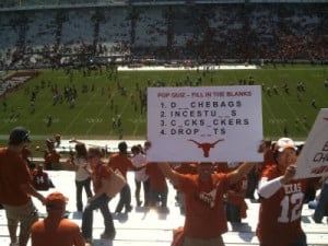 The Texas Longhorns and Oklahoma Sooners Rivalry in Funny Photos