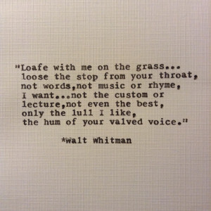 WALT WHITMAN QUOTES LOVE NOTEBOOK buzzquotes.com