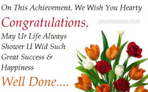 On This Achievement We Wish You Hearty Congratulations May Ur Life ...