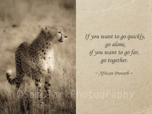 African Cheetah Photograph Inspirational Quote - Sepia, Cheetah, Photo ...