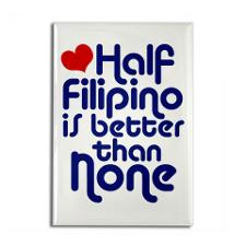 Half Filipino Rectangle Magnet for