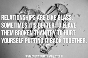 Inspirational Quotes Broken Relationships Pictures