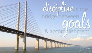 deadline quotes discipline is the bridge march 5 2015